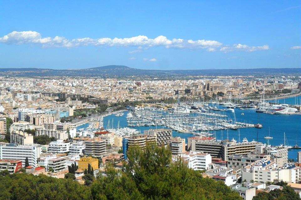 City Spain Boats Majorca Port Ships Palma