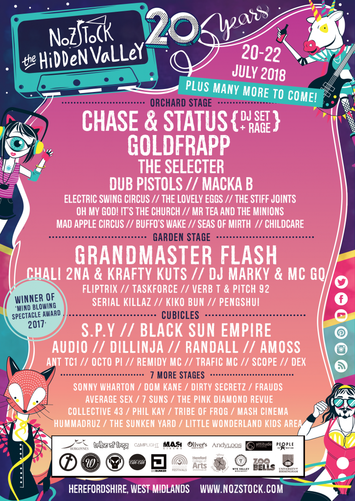 Nozstock 20th anniversary 2018 - first wave of names revealed - FINAL