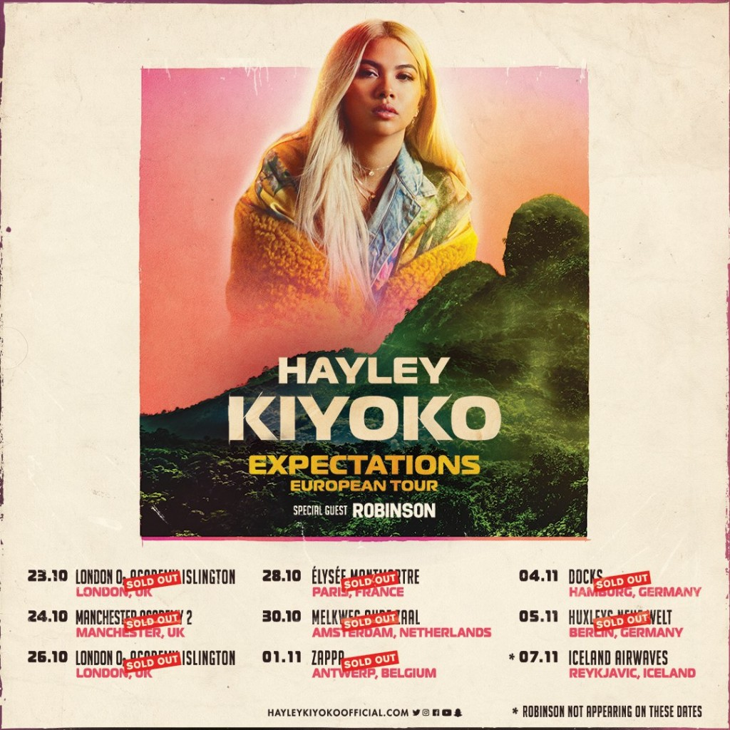 hayley kiyoko 2018 tour